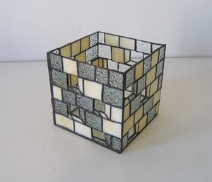 "Two-tone 5"" cube"