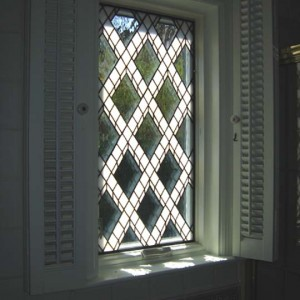 Lattice Window Close-up