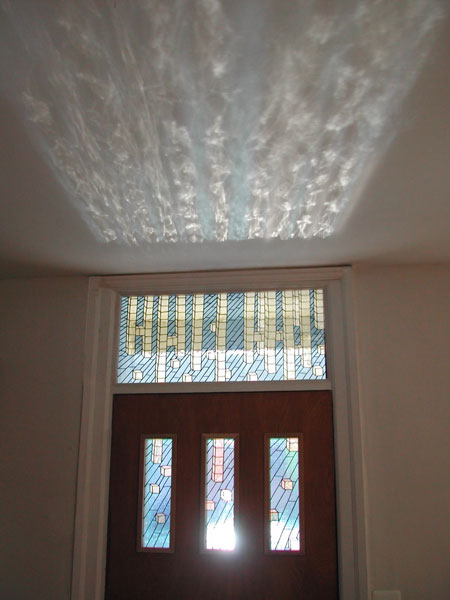 Picture of Block Transom with light shining through